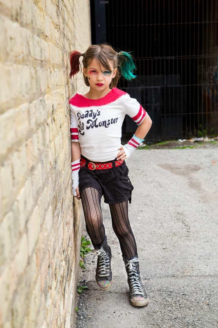 Harley Quinn Kostüm Selber Machen Für Damen Und Kinder Mit über Halloween Kostüme Selber Machen Kinder