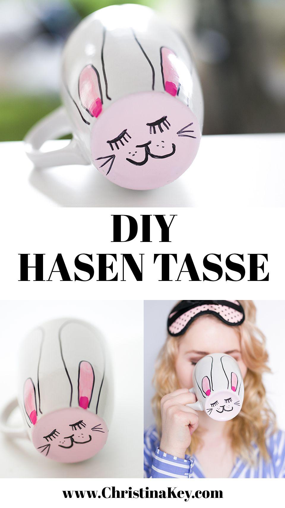 Hasen Tasse - Diy Oster Ideen (Mit Bildern) | Diy ganzes Osterhasen Gesicht
