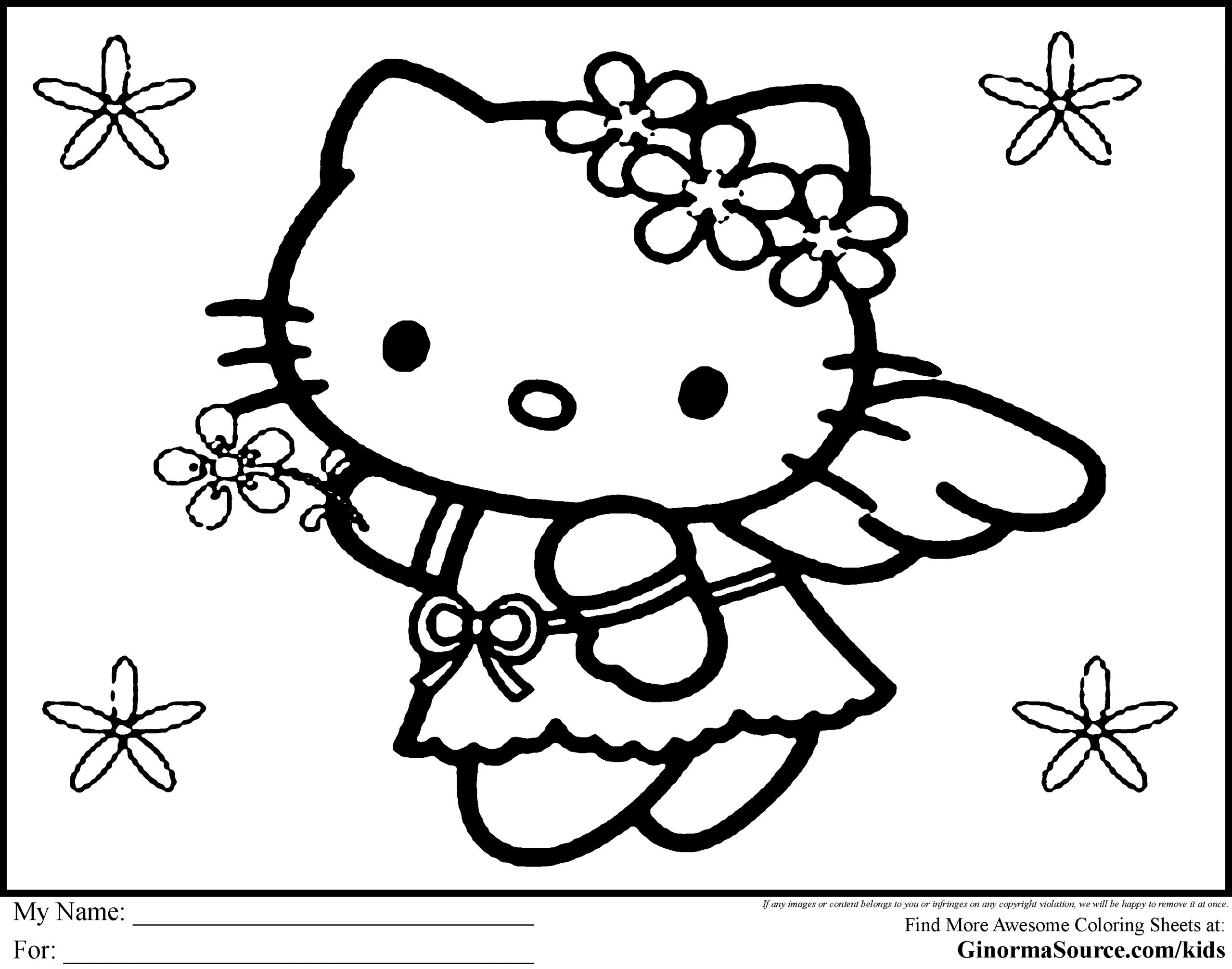 Hello Kitty Christmas Coloring Pages   Hallo Kitty mit Hello Kitty Ausmalbilder Weihnachten