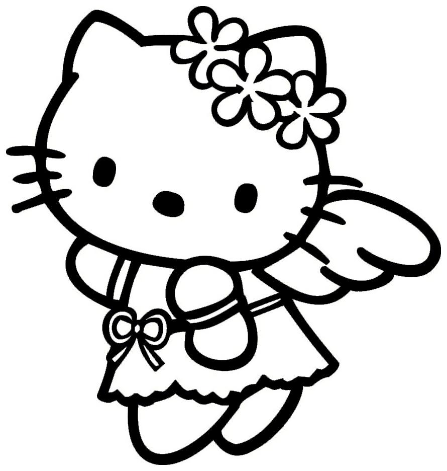 Hello Kitty Engel bei Hello Kitty Zeichnung