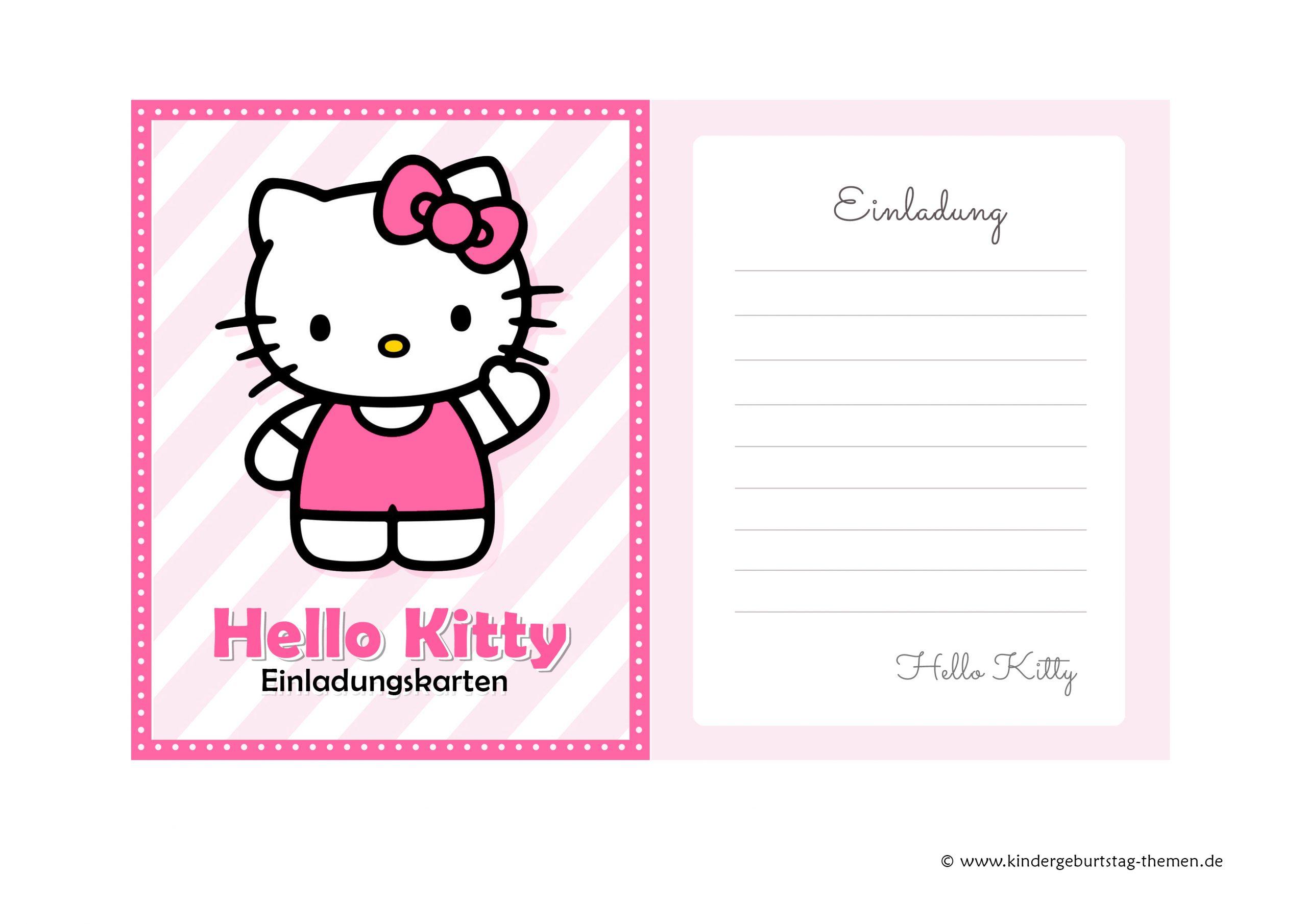Hello Kitty Geburtstagskarte: Kostenlose Einladungen Zum verwandt mit Hello Kitty Kostenlos