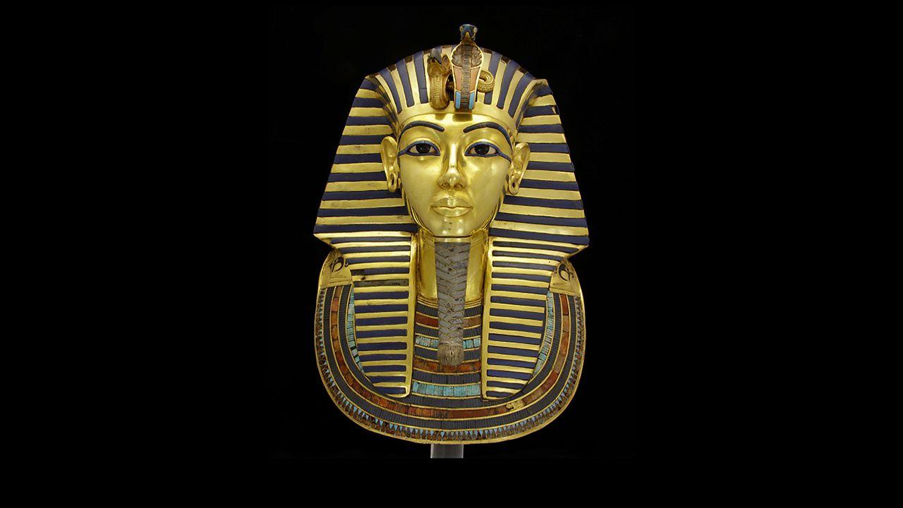 Henkel Klebt Bart Von Tutanchamun innen Pharao Totenmaske