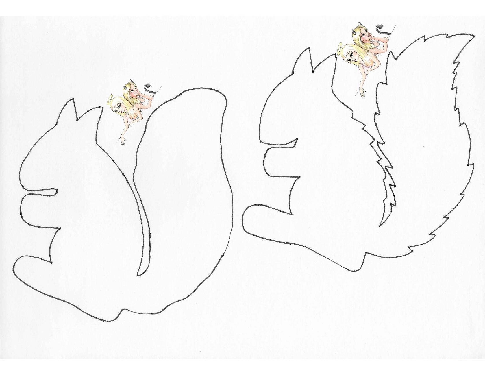Herbst Basteln: Vorlage Eichhörnchen | Mamaz über Bastelvorlage Eichhörnchen