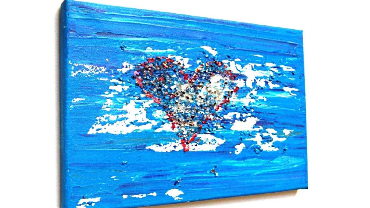 Herz, Acryl Malen Für Anfänger (Heart, Acrylic Painting For Beginners)[Hd] bestimmt für Acrylbilder Malen Vorlagen