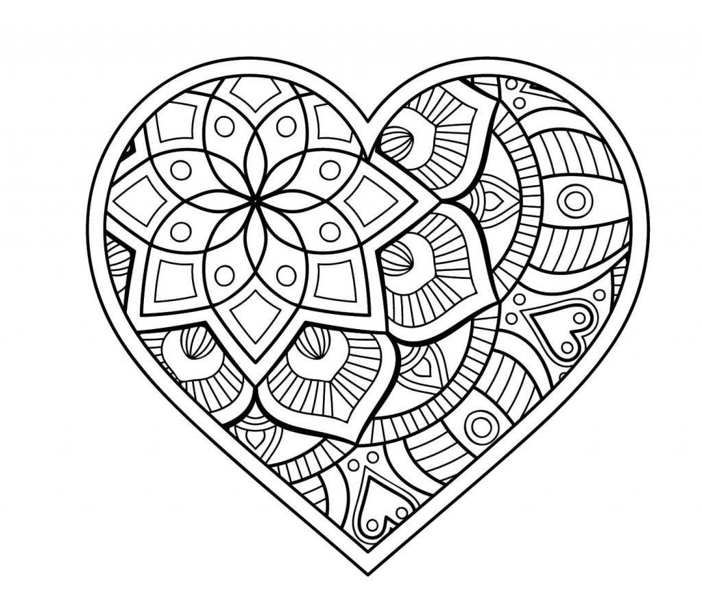 Herz Mandalas Als Pdf Zum Kostenlosen Ausdrucken, 6 Herz bei Mandala Ausmalbilder