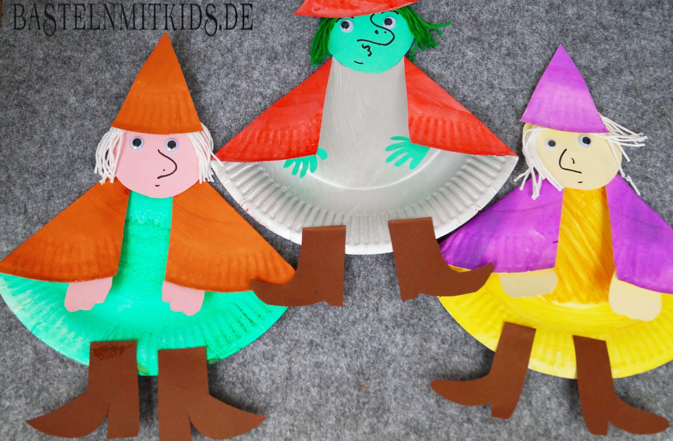 Hexe Basteln Für Halloween - Basteln Mit Kindern Und mit Bastelvorlage Hexe