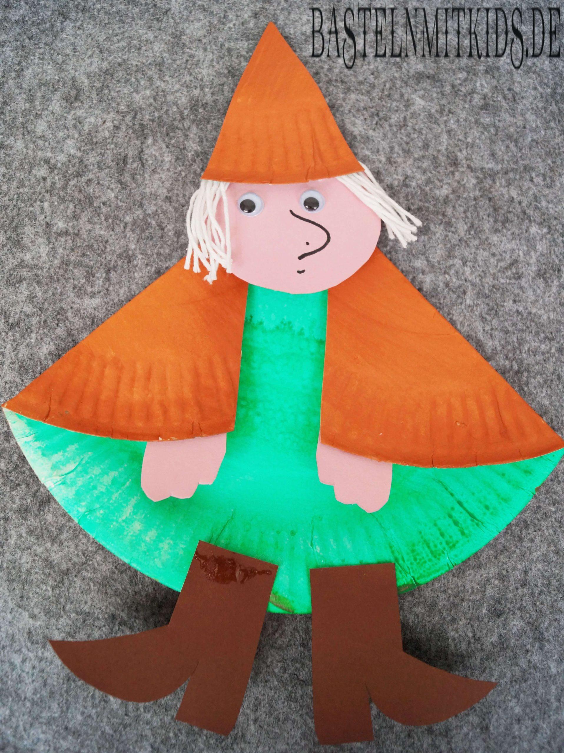 Hexe Basteln Für Halloween - Basteln Mit Kindern Und verwandt mit Bastelvorlage Hexe