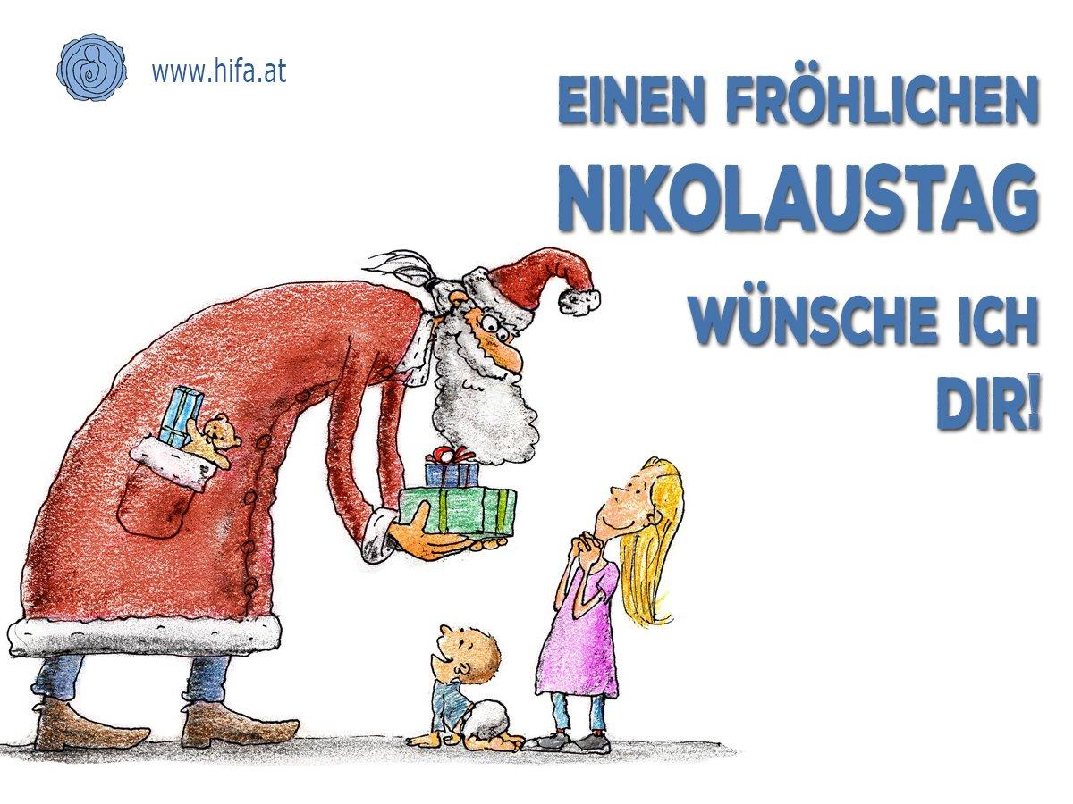 """Hifa.at No Twitter: """"wir Wünschen Dir Einen Schönen Sankt bestimmt für Nikolaus Grußkarte"""