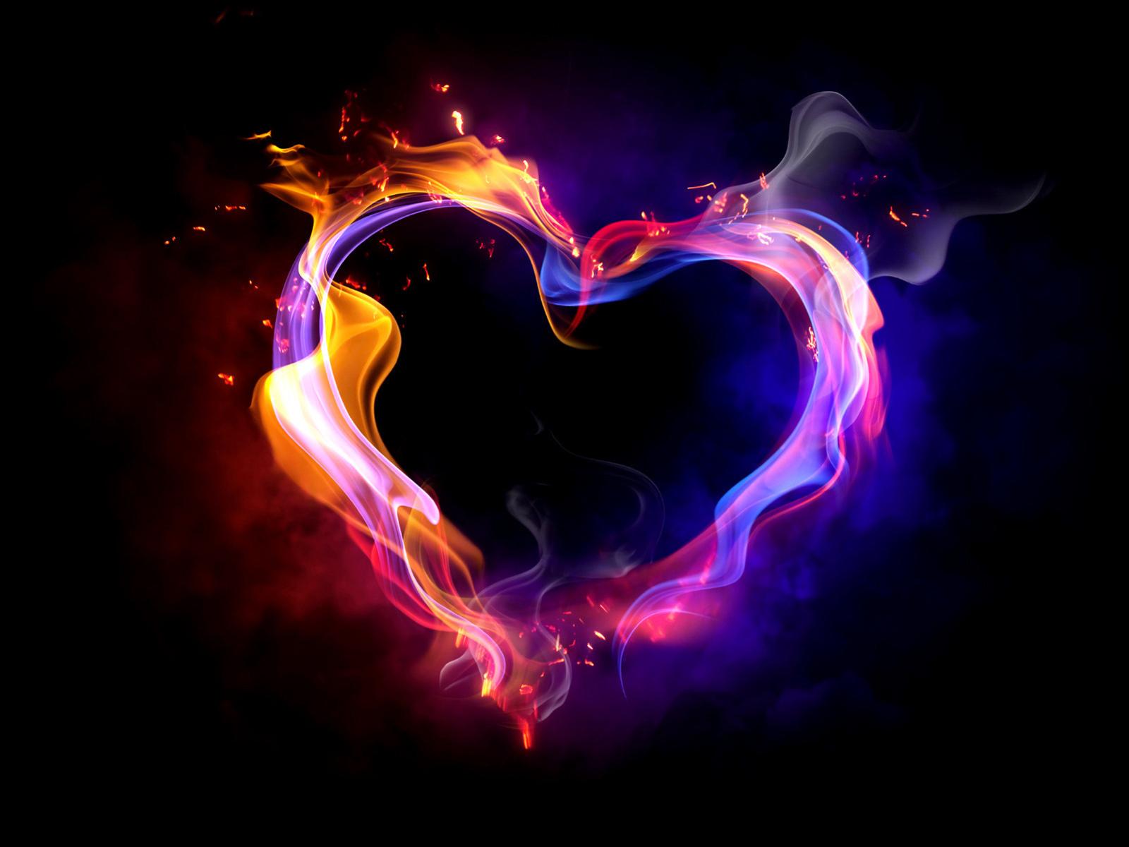 Hintergründe: Bunte Herzen - Kostenlos Herunterladen für Herz Bilder Kostenlos Herunterladen