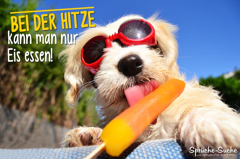 Hitze - Eis Essen | Coole Sprüche & Bilder Für Den Sommer bei Sommerbilder Lustig