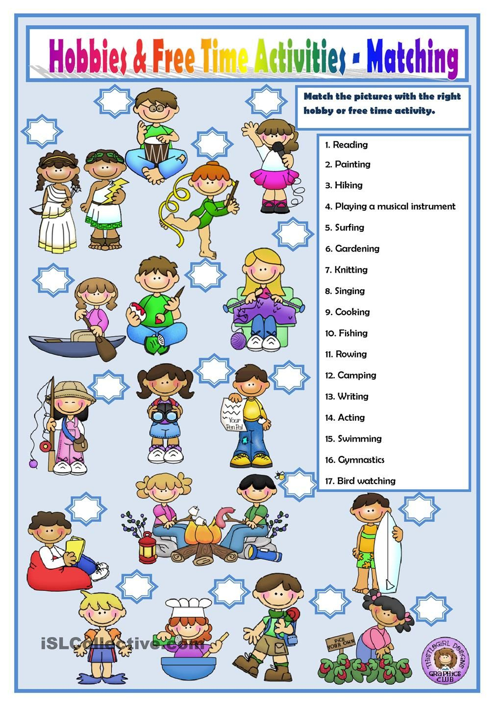 Hobbies And Free Time Activities (Con Imágenes) | Enseñanza verwandt mit Englisch Lernen Für Kinder Kostenlos