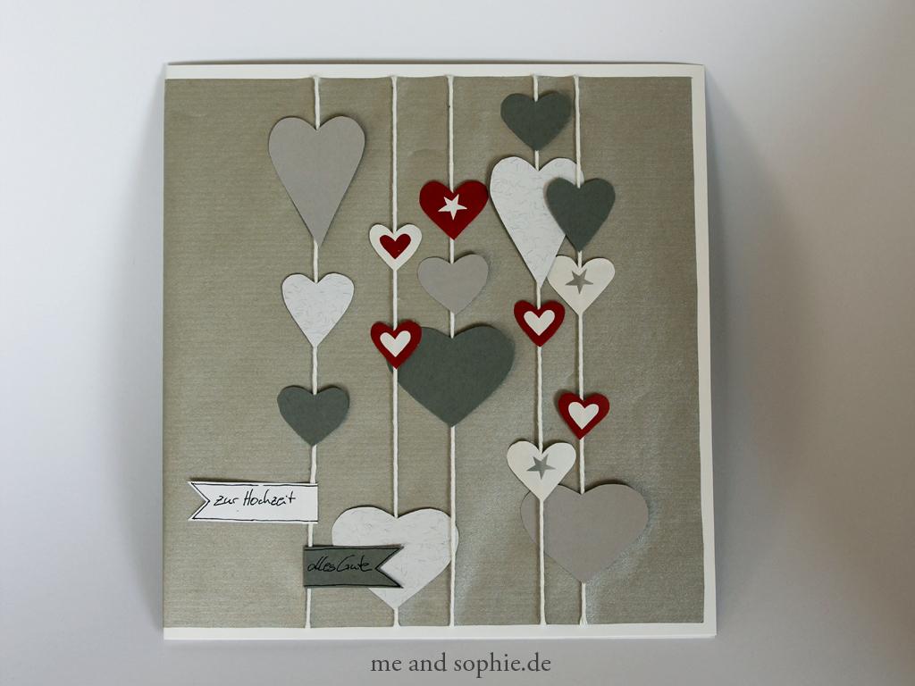 Hochzeit Glückwunschkarte Basteln mit Glückwunschkarten Basteln