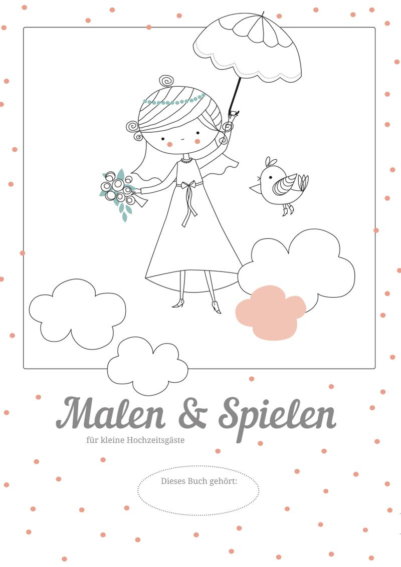 Hochzeitsmalbuch Zum Ausdrucken – Kostenloser Download über Malen Für Kindern Kostenlos