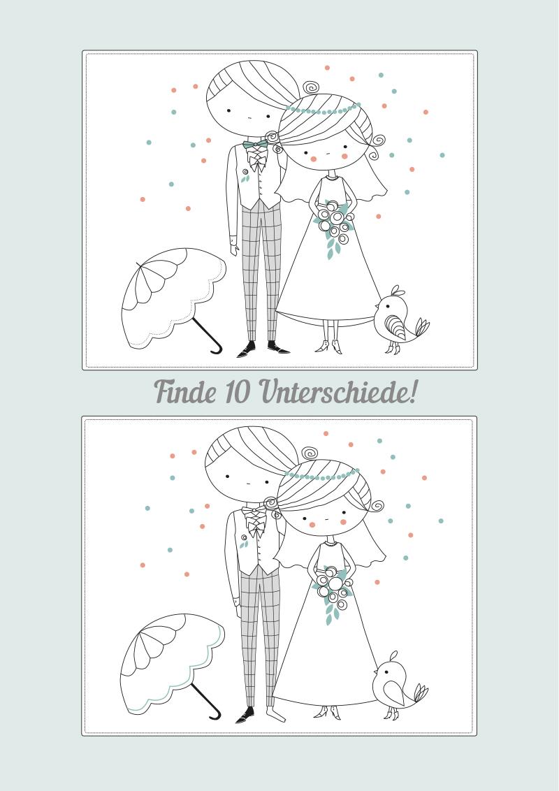 Hochzeitsmalbuch Zum Ausdrucken – Kostenloser Download verwandt mit Hochzeitsbilder Zum Ausdrucken