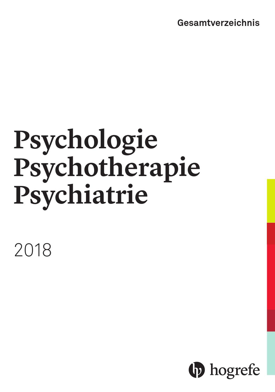 Hogrefe Gesamtverzeichnis Psychologie, Psychotherapie innen Deckblatt Werte Und Normen Zum Ausdrucken