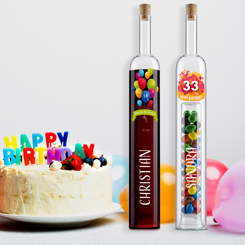 Hohlraumflasche Geburtstag Mit Personalisierung für Geschenke Zum 65 Geburtstag Für Männer