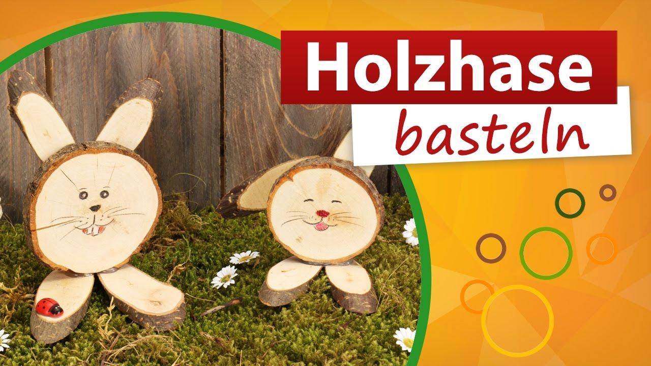 Holzhase Basteln ✂ Osterhasen Aus Holz - Trendmarkt24 Bastelidee Diy Deko für Holz Basteln Vorlagen