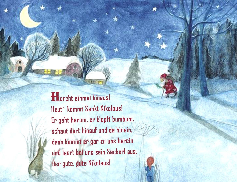 Horcht Einmal Hinaus Winter Vorweihnachtszeit Reim Nikolaus bei Lustige Weihnachtsgedichte Kurze Reime