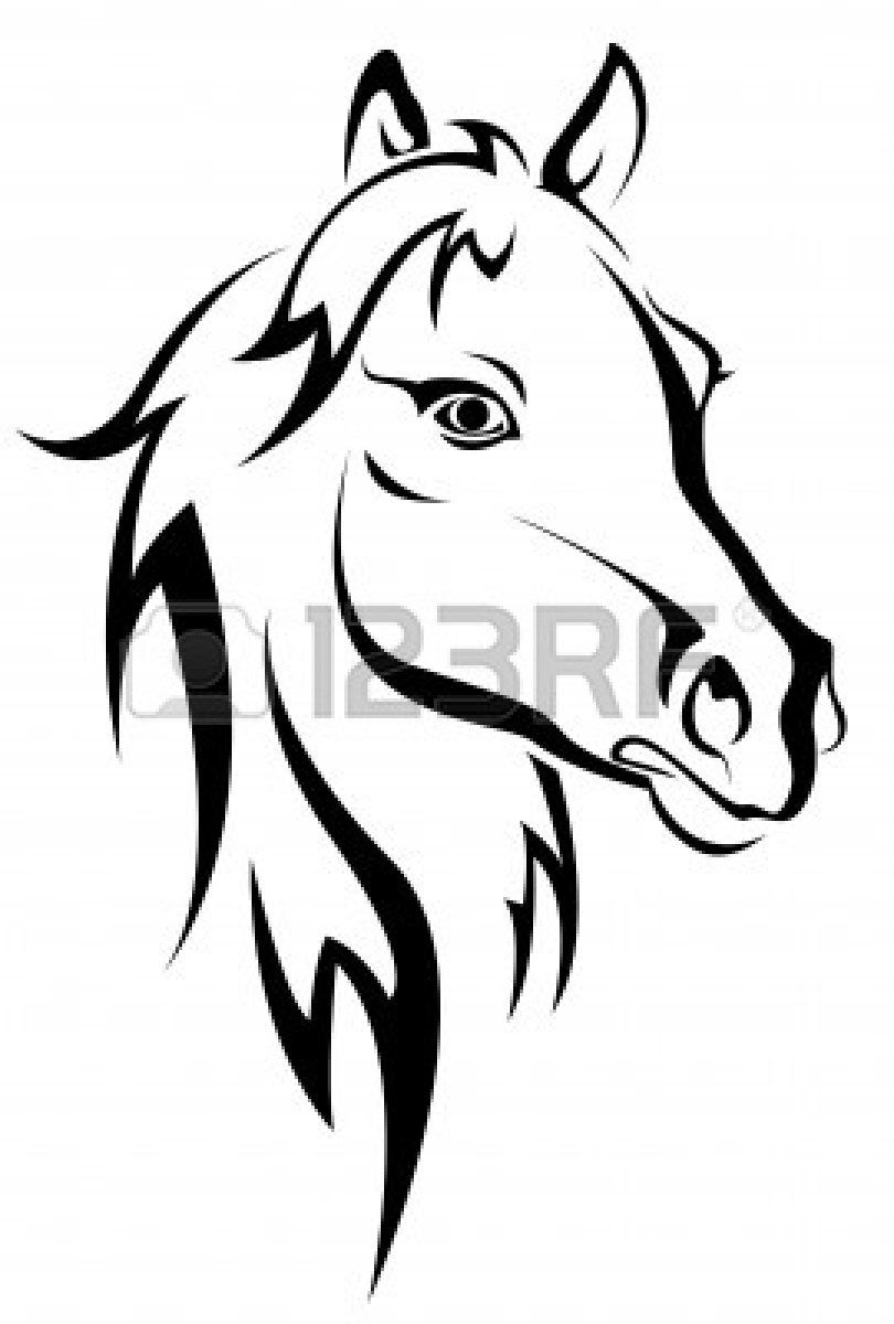Horse Head Silhouette For Graphing (Mit Bildern)   Pferde innen Pferdekopf Malen