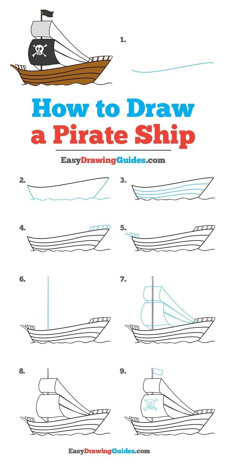 How To Draw A Pirate Ship | Zeichnen Lernen Für Kinder innen Wie Zeichnet Man Ein Schiff