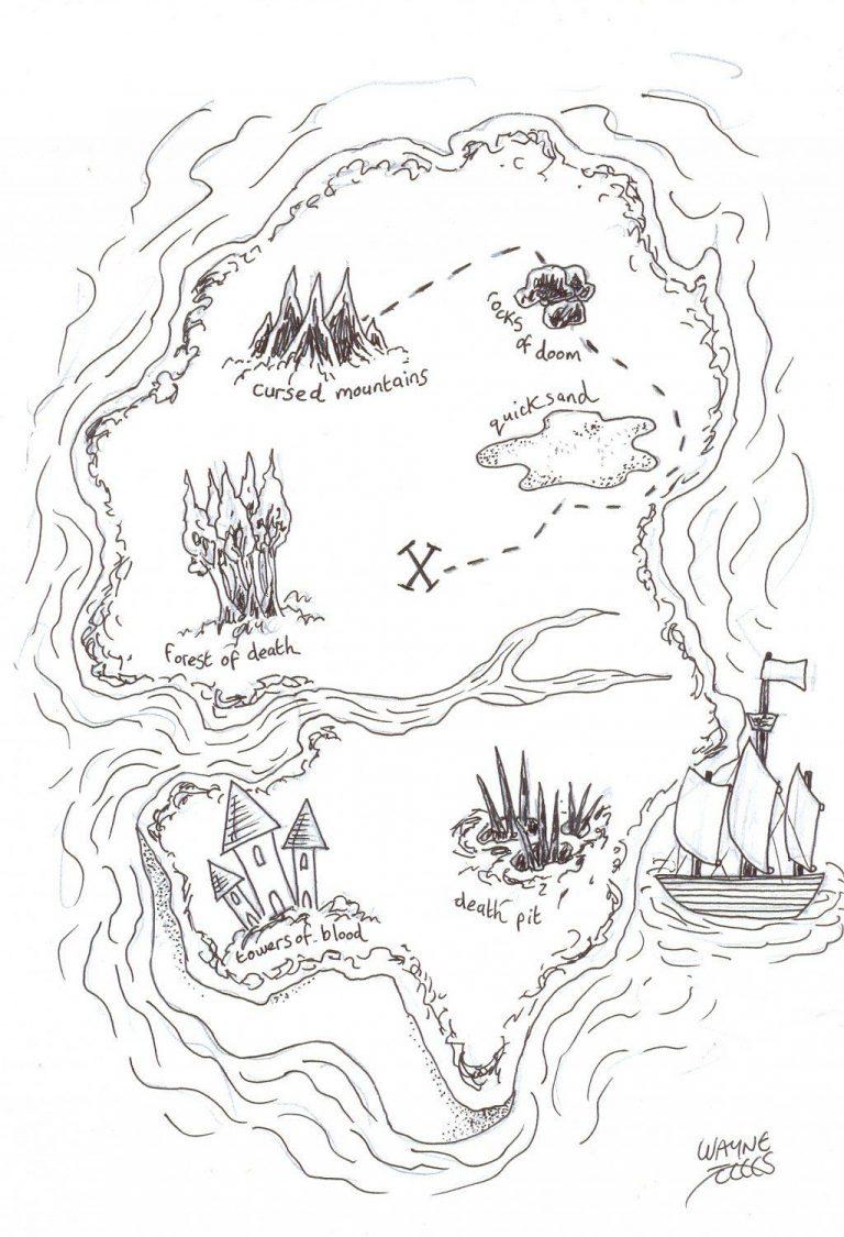 how to draw a pirate treasure map  piratenkarten bestimmt