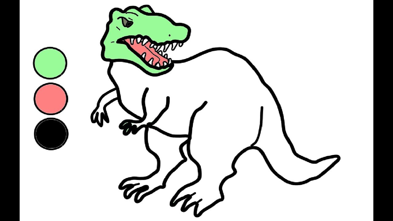How To Draw And Color Dinosaur | Drawing And Painting For Children With  Dindin innen Dino Zeichnen