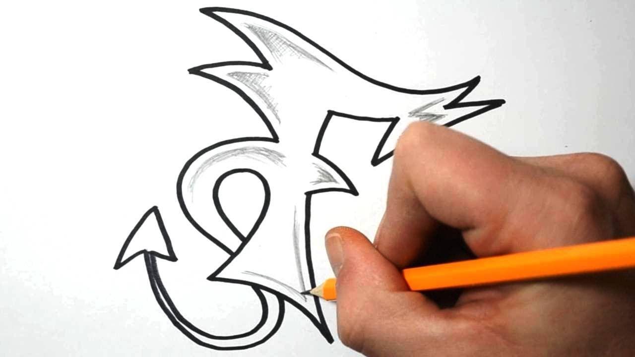 How To Draw Graffiti Letters - F (Mit Bildern) | Graffiti innen Graffiti Buchstabe F