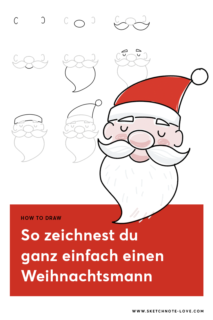 How To Draw Quickie: Santa (Mit Bildern)   Weihnachtsmann innen Weihnachtsmann Malen