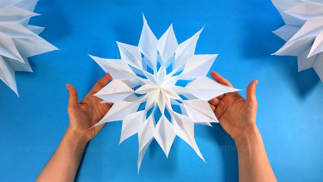 How To Make A Christmas Star With A Paper Bag - Diy Paper Star - Christmas  Crafts Ideas mit Weihnachts Sterne Basteln