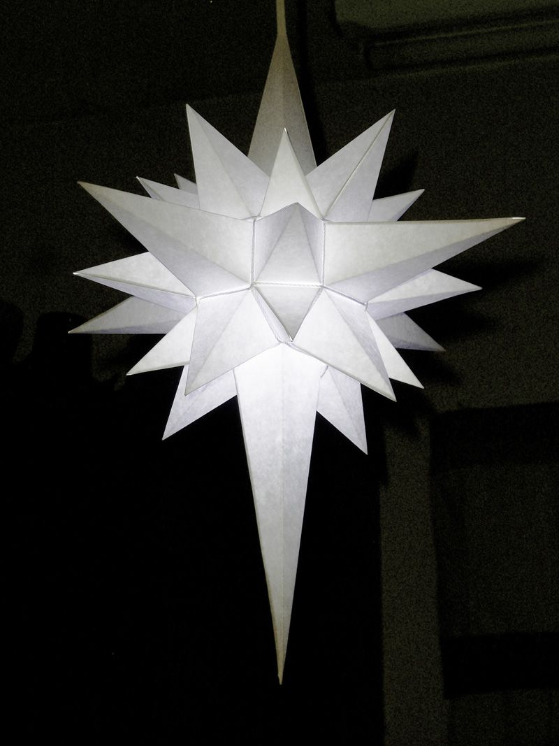 How To Make A Paper Star Of Bethlehem.this One Can Be bei Stern Von Bethlehem Basteln