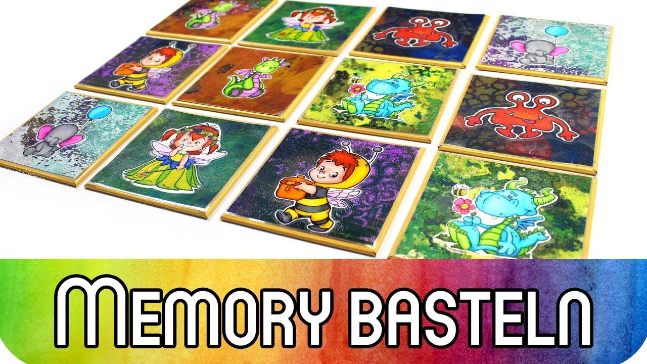 Howto: Memory-Spiel Basteln Für Kleinkinder | Scrapbooking Idee Mit  Stempeln & Gelli Plate verwandt mit Memory Spiel Selbst Gestalten