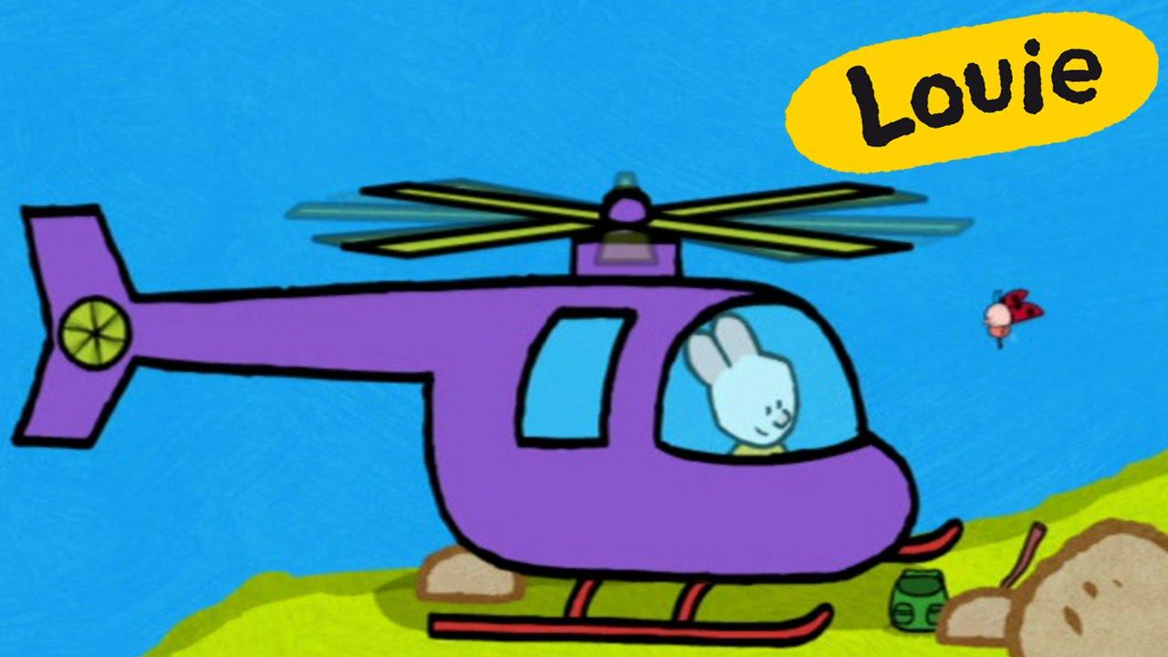 Hubschrauber - Louie, Mal Mir Einen Hubschrauber | Lebendige Bildungs Malen  Für Kinder bestimmt für Hubschrauber Für Kinder