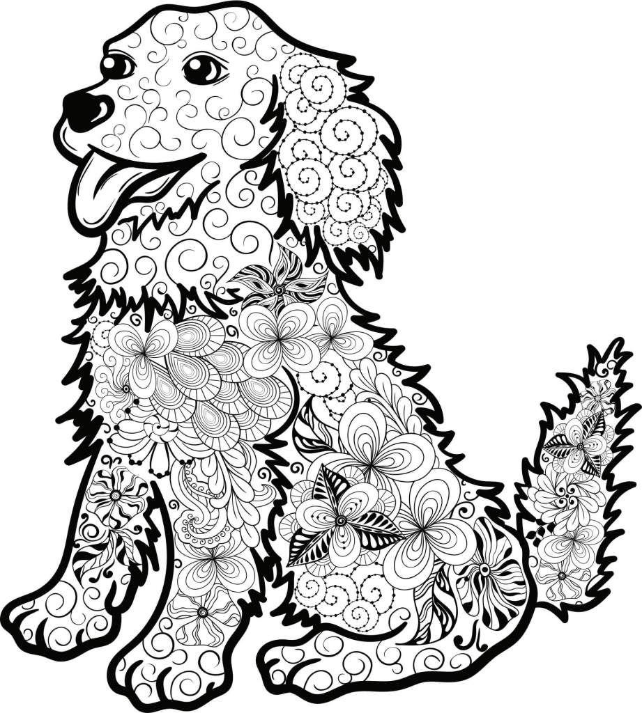 Hunde Mandala Als Pdf Zum Kostenlosen Runterladen | Mandala bei Ausmalbilder Tiere Gratis