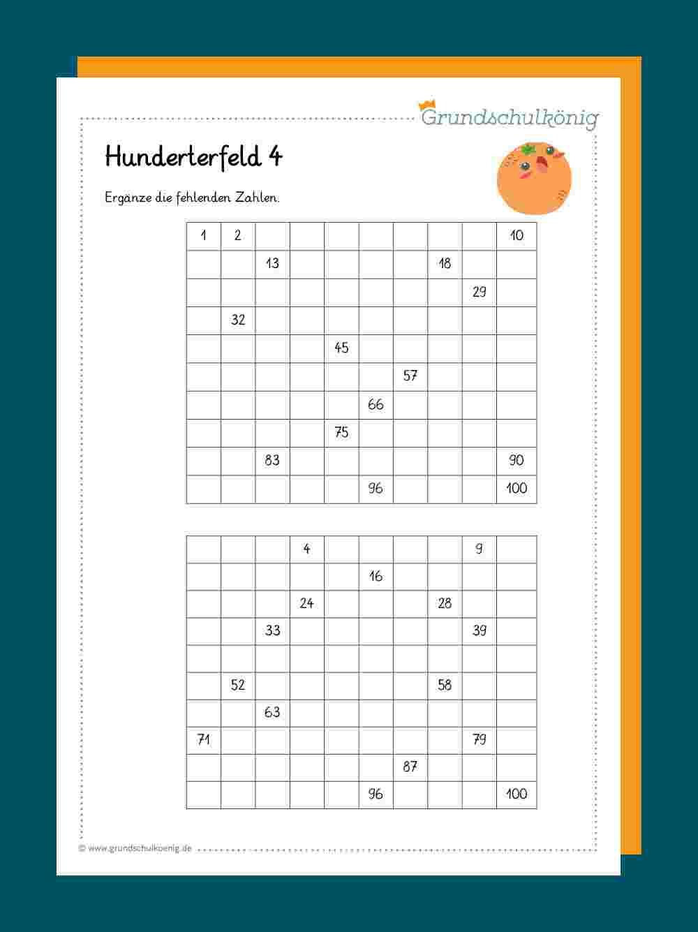 Hundertertafel / Hunderterfeld verwandt mit Zaubermini