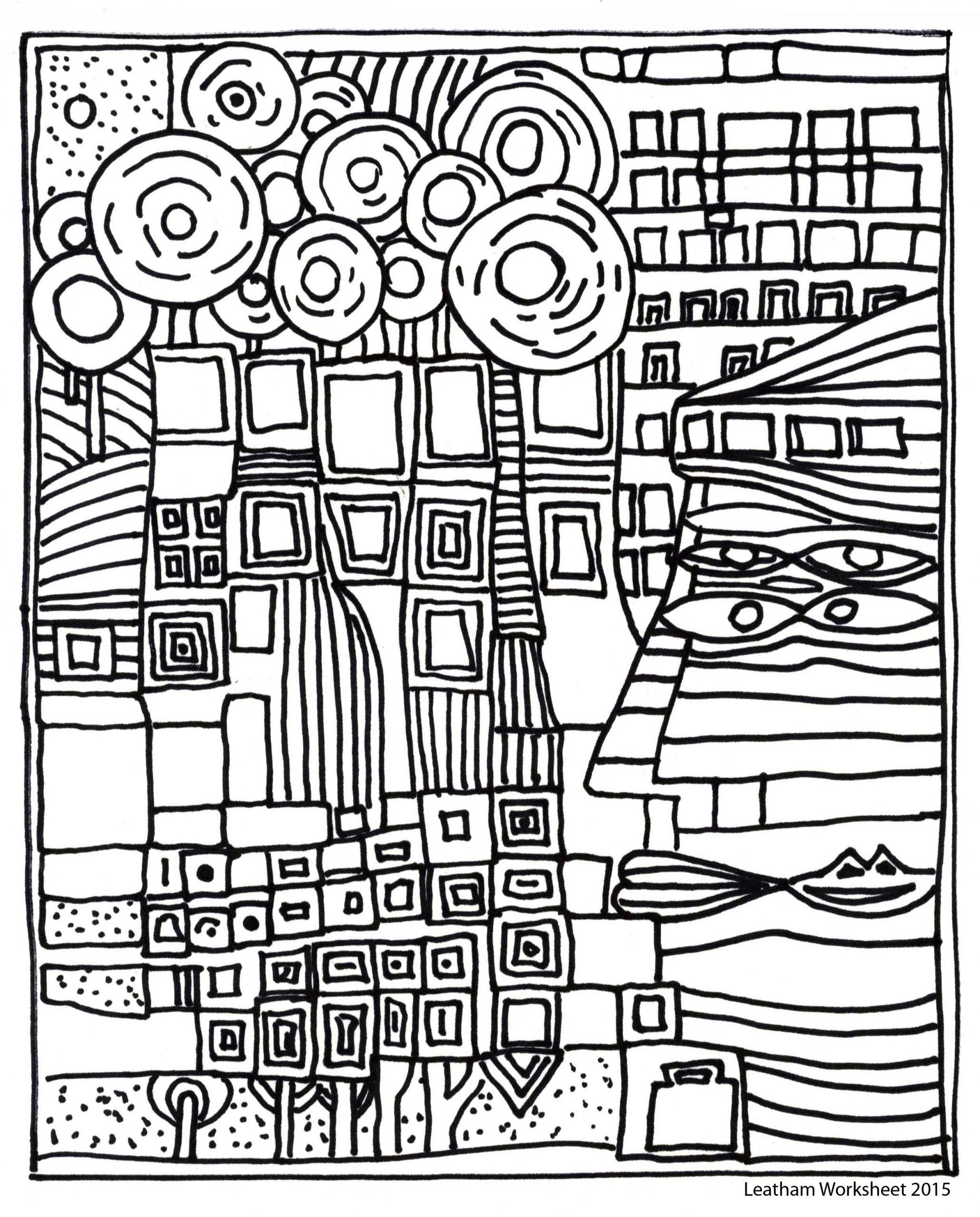 Hundertwasser Style Line Art. Feel Free To Use It über Hundertwasser Zum Ausmalen