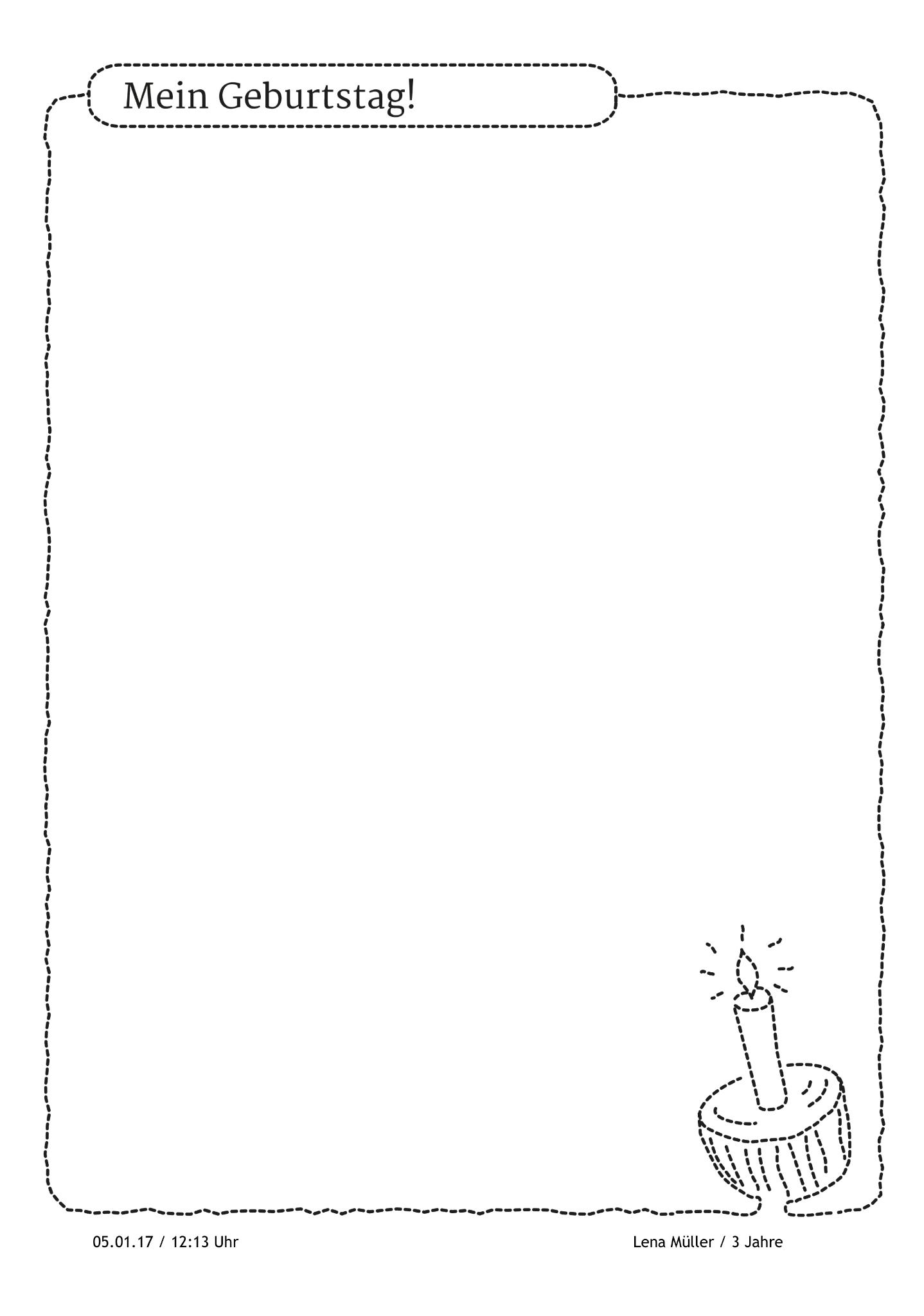 Ich Habe Geburtstag! Was Gibt Es Schöneres Als Den Eigenen mit Portfolio Vorlagen Zum Ausdrucken
