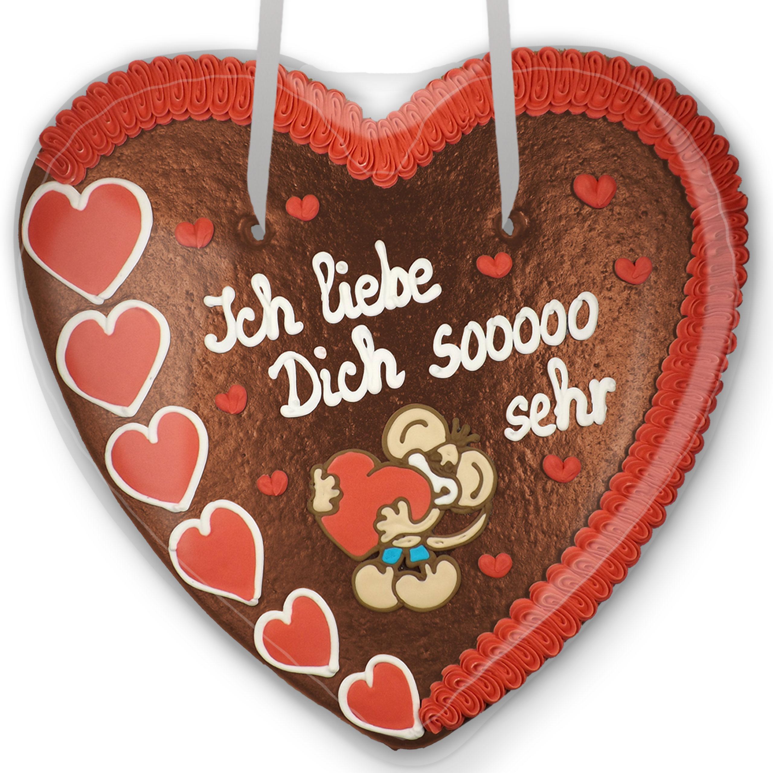 Ich Liebe Dich Sooooo Sehr - Xxl Lebkuchenherz 50Cm bei Ich Liebe Dich Bilder