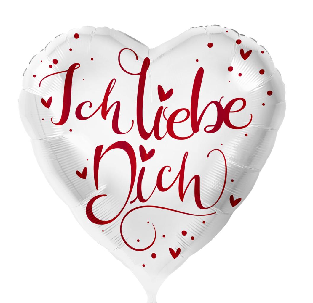 Ich Liebe Dich Weiss 71Cm Xxl - Leerballon über Ich Liebe Dich Bilder