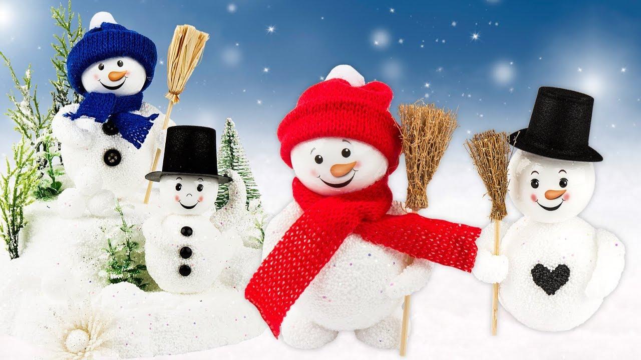 Ideen Mit Herz - Niedliche Schneemänner Basteln - Perl-Modellierschaum -  Weihnachten - Kinder ganzes Weihnachten Für Kindergartenkinder