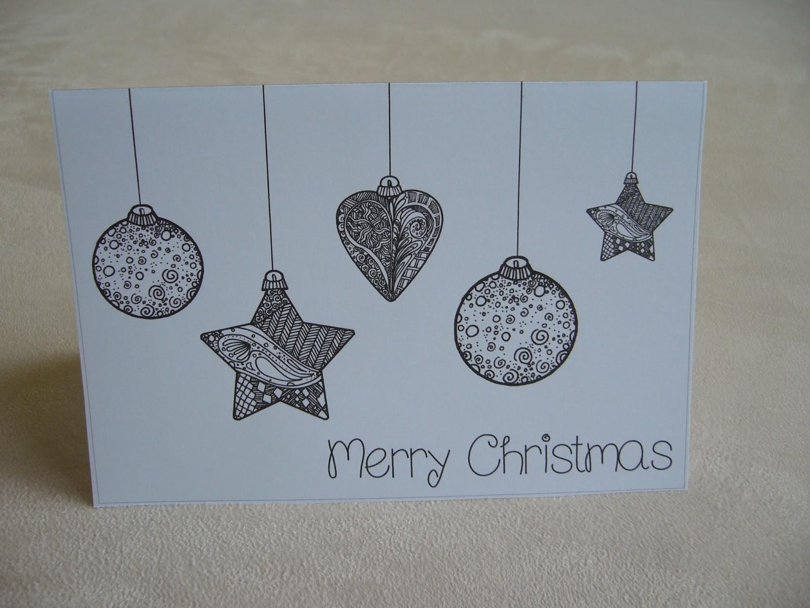 Ideenreise - Blog | Schnelle Weihnachtskarten mit Weihnachtskarten Vorlage