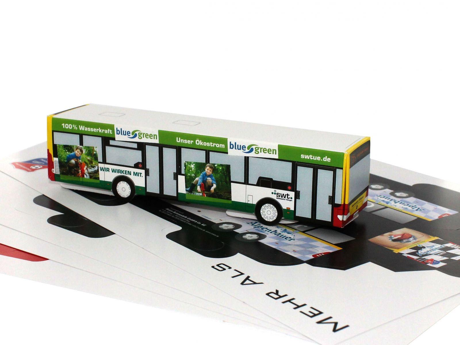 Ihre Eigenes Busmodell Aus Karton! - Rietze Group bestimmt für Bastelvorlage Bus