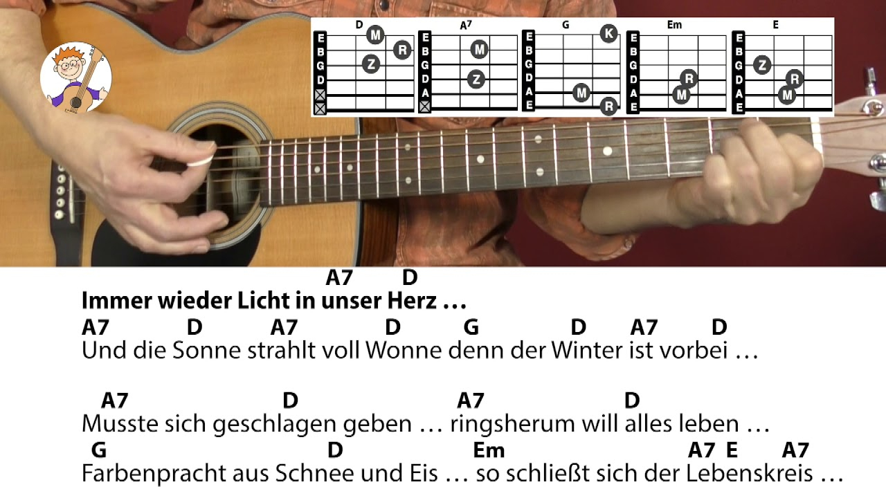Immer Wieder Kommt Ein Neuer Frühling - Rolf Zuckowski, Akkorde & Text Für  Gitarre Zum Mitspielen bei Frühlingslieder Rolf Zuckowski