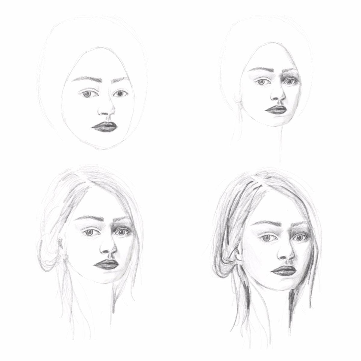 In 5 Schritten Gesichter Zeichnen Lernen | Hermine On Walk ganzes Gesicht Zeichnen Anleitung