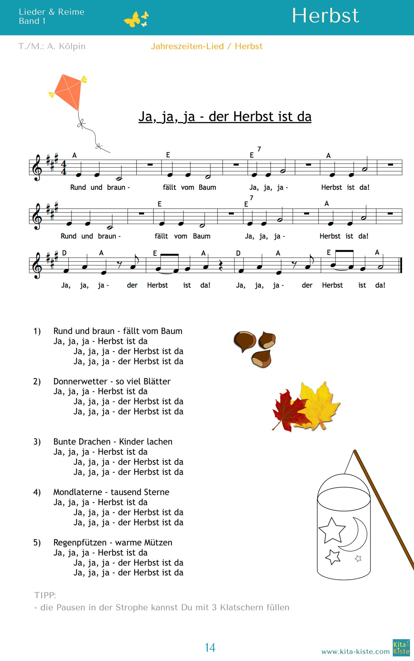 """Ja, Ja, Ja - Der Herbst Ist Da"""" - #morgenkreis Im bei Herbstlieder Für Krippenkinder"""