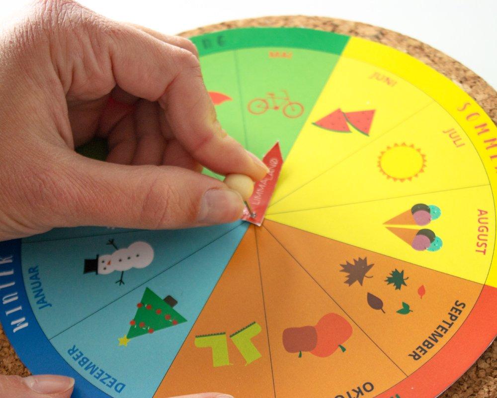 Jahreskreis Für Kinder Basteln - Kostenlos Zum Download für Jahresuhr Basteln