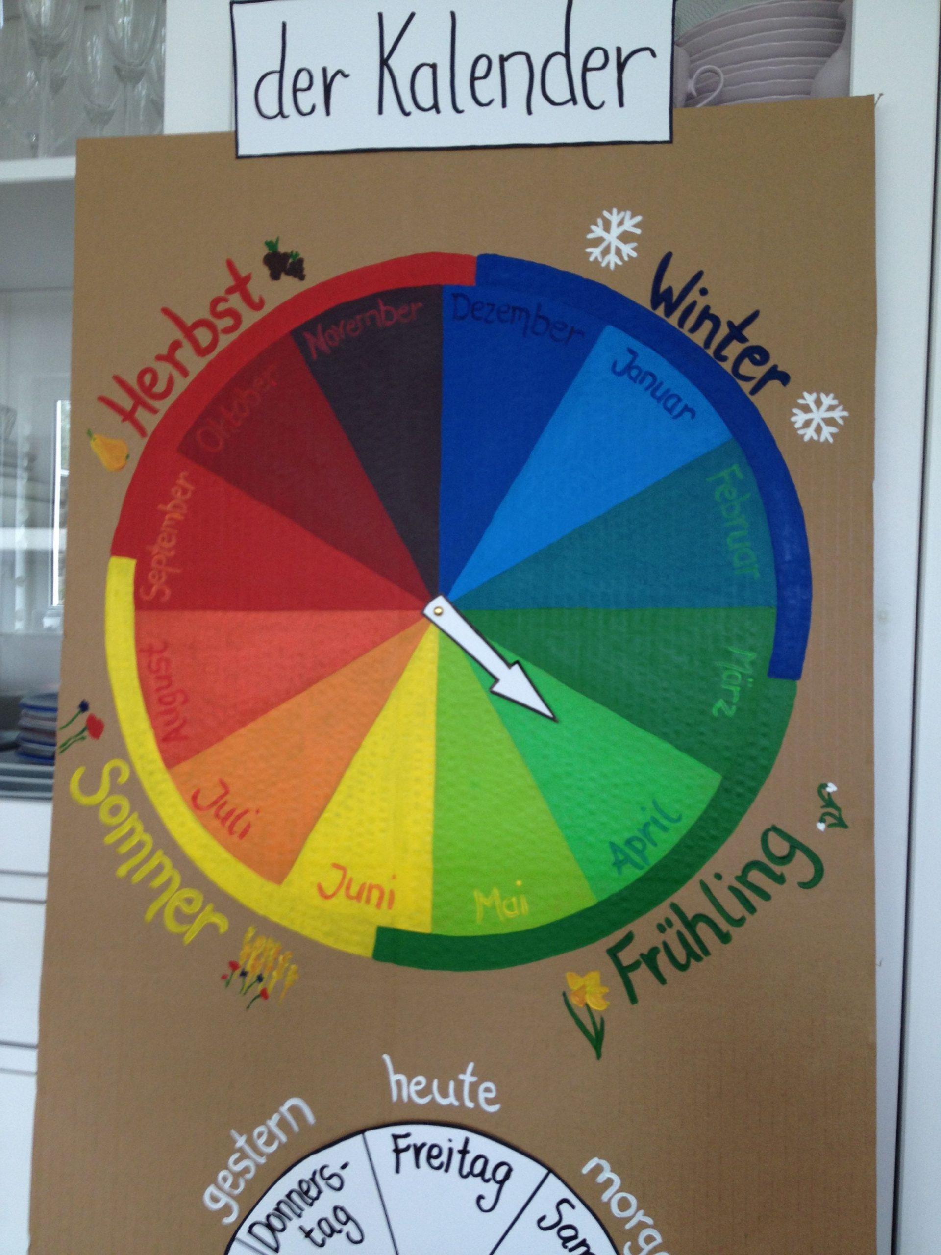 Jahresuhr Kalender Kinder Und Schule | Kalender Für Kinder bestimmt für Kalender Kindergarten