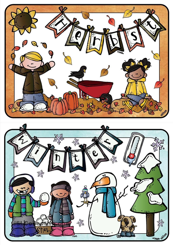 Jahreszeiten _ Bildkarten Groß   Bildkarten, Jahreszeiten verwandt mit Jahreszeiten Bilder Für Kindergarten