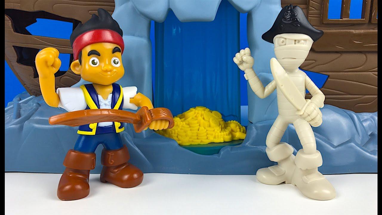 Jake In Die Suche Nach Dem Schatz Jake Und Die Nimmerland Piraten Fisher  Price Disney Spielzeug über Jack Und Die Nimmerland Piraten Schiff