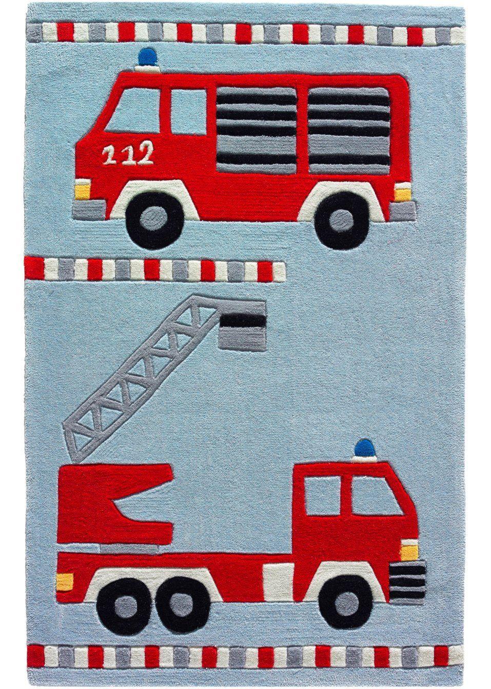 Jetzt Anschauen: Hochwertiger Handtuft Teppich Mit verwandt mit Feuerwehr Motive