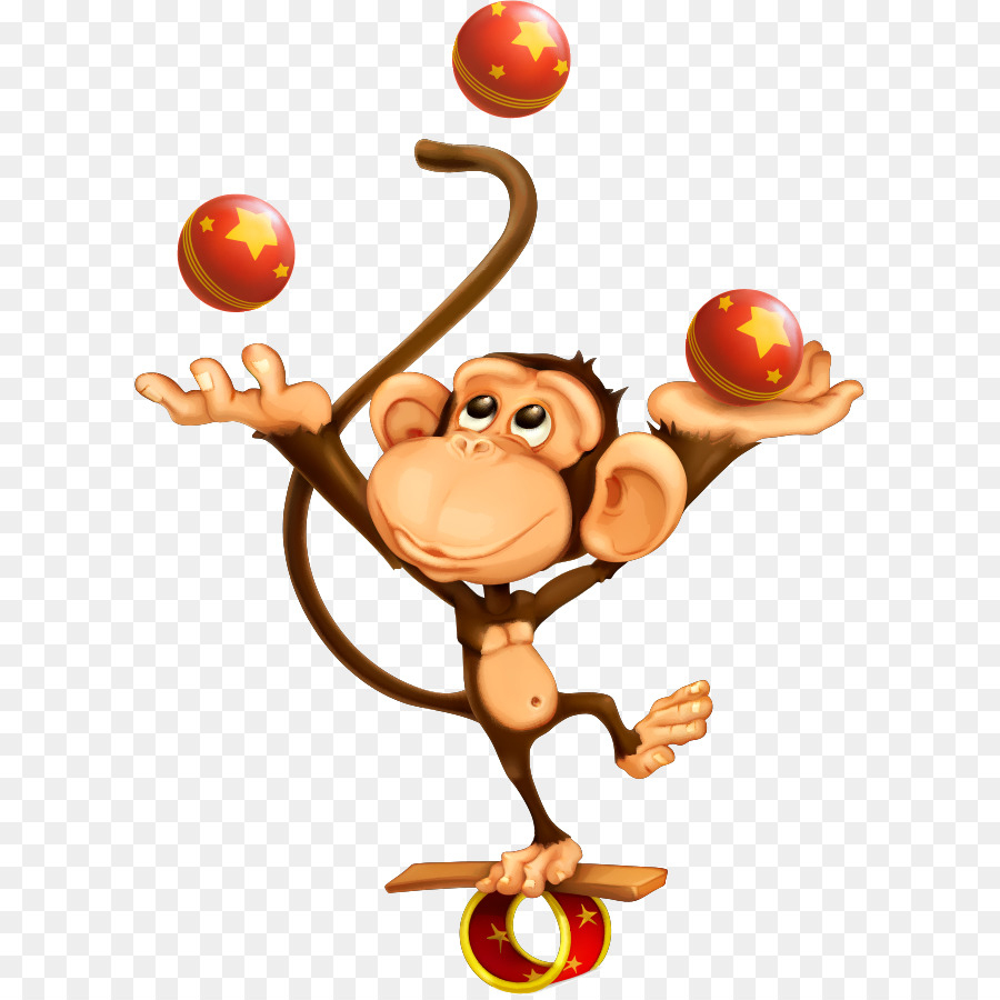 Jonglieren Zirkus Affe Royalty-Free - Vektor Kleinen Affen innen Affe De Kostenlos